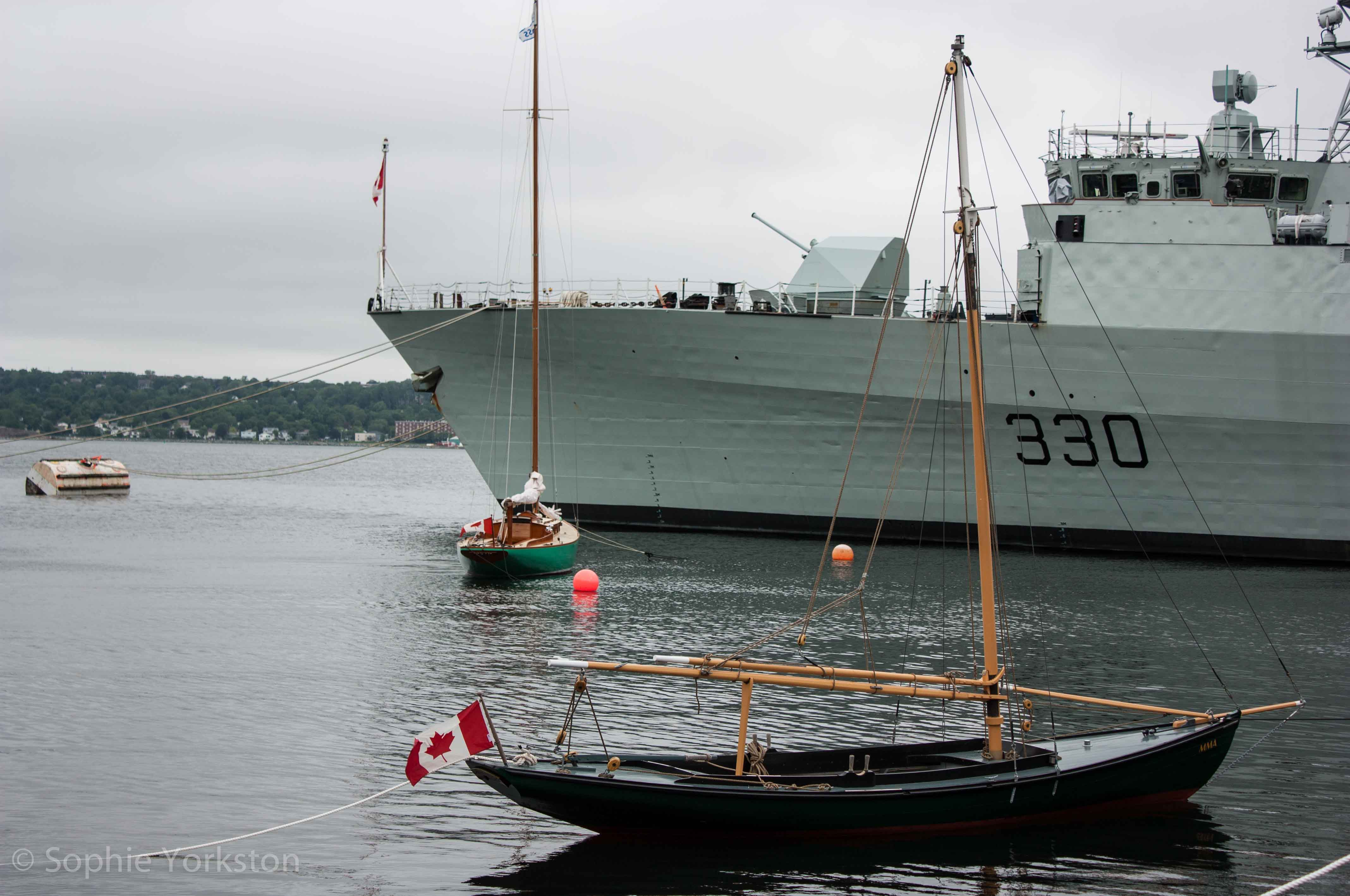 Boats in Halifax harbour